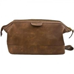 Dark Brown Explorer Dopp Kit