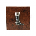 Hinged Box with Sterling Boot