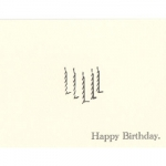 Forgetful Gentleman Letterpress Happy Birthday Candles Cards