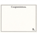 Forgetful Gentleman Letterpress Congratulations Card 5 1/2\ x 4 1/4