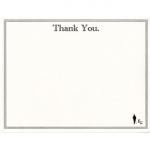 Forgetful Gentleman Letterpress Thank you Card 5 1/2\ x 4 1/4
