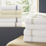Sferra Grande Hotel Wheat/White King Flat Sheet