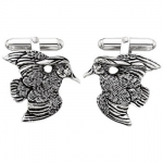 Grainger McKoy Sterling Silver Wood Duck Cufflinks