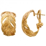 Grainger McKoy 18K Gold Feather Earrings