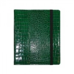 Green Crocodile Embossed Ipad Cover