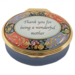 Halcyon Days Enamel Pill Box Thank You