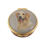 Golden Retriever Enamel Pill Box