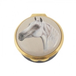 Halcyon Days Enamel Pill Box Arabian Horse