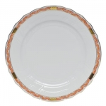 Chinese Bouquet Garland Rust Dinner Plate