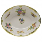 Queen Victoria Green Oval Vegetable Dish