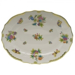 Queen Victoria Green 17\ Oval Platter