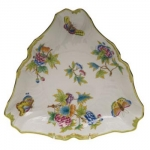 Queen Victoria Green Triangle Dish