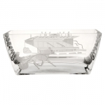 Etched Crystal Trotter With Grandstand Bowl