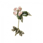 Jay Strongwater Dogwood Stickpin