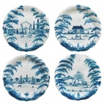 Country Estate Party Plates, Set of 4