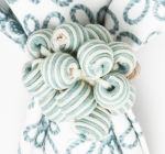 Ice Blue Beaded Napkin Ring