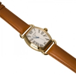 Links of London Medium Driver Ellipse Watch with Gold and White Face