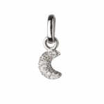 Links of London Pave Diamond Crescent Moon Charm