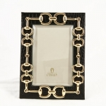 L\'Objet Gold Links Equestrian 4x6 Frame