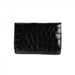 Black Crocodile Card Case