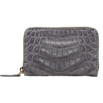 Grey Caiman Crocodile Card Case