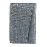 Blue African Crocodile Card Case