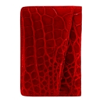 Flame Red African Crocodile Card Case