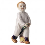 Meissen Child Standing with Hobby Horse and Drum The history of porcelain manufacturing in Europe begins in Meissen, Germany near Dresden, the cradle of European porcelain. Apart from the short-lived production of the Medici factory in Florence in the 1560\'s, Meissen was the first successful producer of hard-paste porcelain - or true porcelain - in Europe. Meissen\'s products, and those of its imitators, who came later, destroyed the supremacy of the oriental porcelain that had held a virtual monopoly in the world since Marco Polo opened the china trade in 1295. 