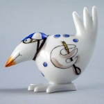 Meissen Blue Jockey Bird The history of porcelain manufacturing in Europe begins in Meissen, Germany near Dresden, the cradle of European porcelain. Apart from the short-lived production of the Medici factory in Florence in the 1560\'s, Meissen was the first successful producer of hard-paste porcelain - or true porcelain - in Europe. Meissen\'s products, and those of its imitators, who came later, destroyed the supremacy of the oriental porcelain that had held a virtual monopoly in the world since Marco Polo opened the china trade in 1295. 