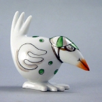 Meissen Green Jockey Bird The history of porcelain manufacturing in Europe begins in Meissen, Germany near Dresden, the cradle of European porcelain. Apart from the short-lived production of the Medici factory in Florence in the 1560\'s, Meissen was the first successful producer of hard-paste porcelain - or true porcelain - in Europe. Meissen\'s products, and those of its imitators, who came later, destroyed the supremacy of the oriental porcelain that had held a virtual monopoly in the world since Marco Polo opened the china trade in 1295. 