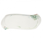 Waves Relief Woodland Floral Rectangular Platter