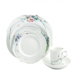 Meissen Waves Relief Woodland Flora Five Piece Place Setting
