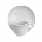 Waves Relief Breakfast Cup And Saucer
