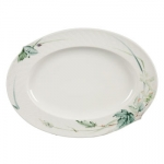 Waves Relief Woodland Flora 13.5\ Oval Platter
