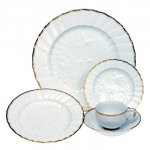 Meissen Swan Service Gold Filet Five Piece Place Setting