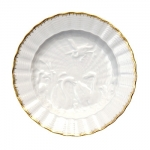 Swan Service Gold Filet Salad/Dessert Plate