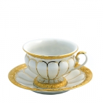 Golden Baroque Cup and Saucer