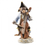 Bass Fiddle Player Figurine