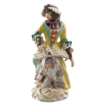 Meissen Female Singer Figurine Member of the Monkey Orchestra