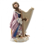 Meissen Harpist Figurine Member of the Monkey Orchestra