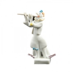 Clown Flutist Figurine