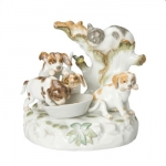 Dogs with Cat Figurine