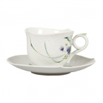 Waves Relief Woodland Flora Breakfast Cup and Saucer