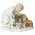 Meissen Girl with Rabbit Figurine The history of porcelain manufacturing in Europe begins in Meissen, Germany near Dresden, the cradle of European porcelain. Apart from the short-lived production of the Medici factory in Florence in the 1560\'s, Meissen was the first successful producer of hard-paste porcelain - or true porcelain - in Europe. Meissen\'s products, and those of its imitators, who came later, destroyed the supremacy of the oriental porcelain that had held a virtual monopoly in the world since Marco Polo opened the china trade in 1295.