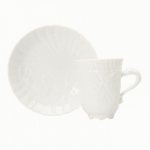 Swan Service White Coffee Cup and Saucer