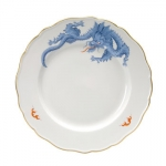 Meissen Light Blue Ming Dragon Lifestyle Dinner Plate No fabulous beast from the Middle Kingdom is as mysterious and fascinating as the dragon. As well as being regarded as a bringer of luck, it is also the symbolic companion of the Emperor for thousands of years. In Chinese mythology, the dragon is capable of assuming many different forms and of even becoming invisible.