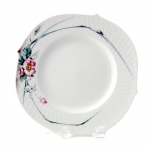 Waves Relief Woodland Flora Dinner Plate
