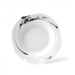 Waves Relief Woodland Flora Rim Soup Plate
