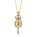 \Travel\ Compass Key Charm with Chain
