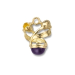Gold \True Love\ Tulip Charm